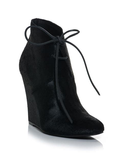 burberry prorsum benton calfskin wedge ankle boots for