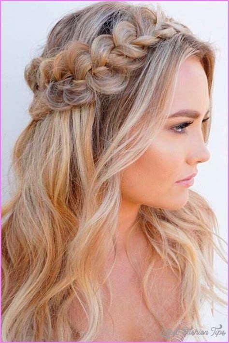 hairstyles half up half down how to long hairstyles half up half down latestfashiontips com