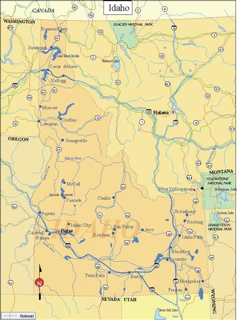 printable map idaho printable us state maps printable state maps