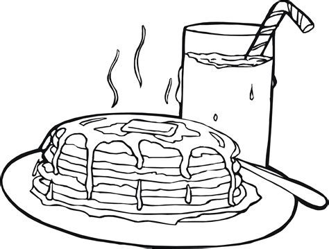 Food Coloring Pages Children S Best Activities Pancake Colouring Pages