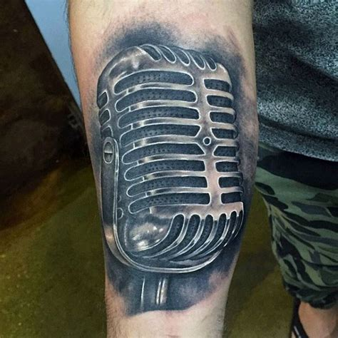 microphone skin tattoo 60 awesome microphone tattoos