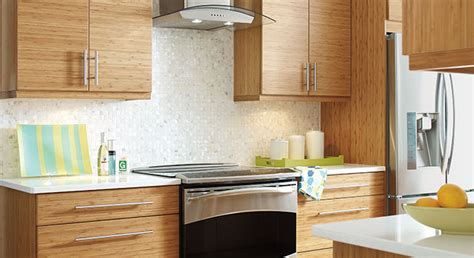 Modern Kitchen with Bamboo Cabinetry   MasterBrand