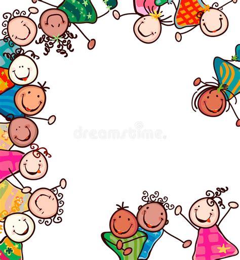 bambini clipart bambini felici illustrazione vettoriale illustrazione di