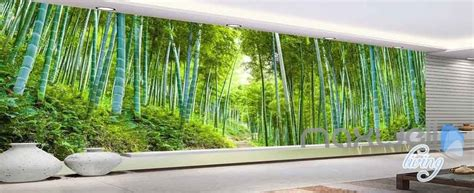Bamboo Forest Wallpaper Room - 3d bamboo forest entire room wallpaper wall mural