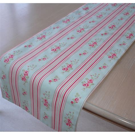 coffee table runner 48 shabby chic pink floral stripe on