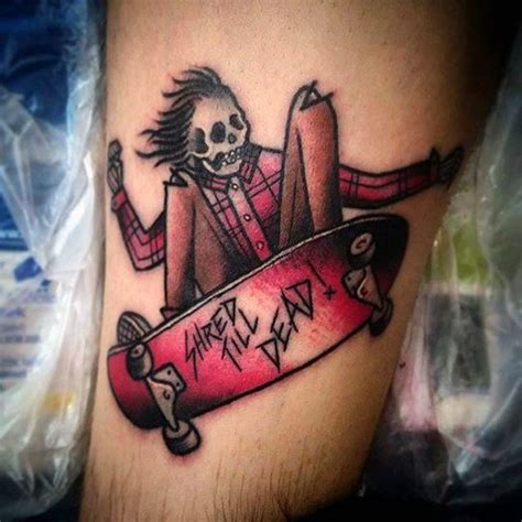100 skateboard tattoos for men cool designs part two