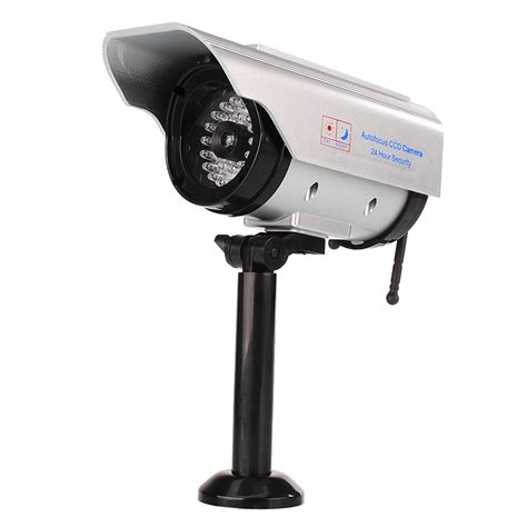 solar power dummy outdoor home security cctv