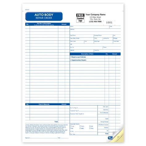 printable repair order forms auto body repair order form aut6597 at print ez