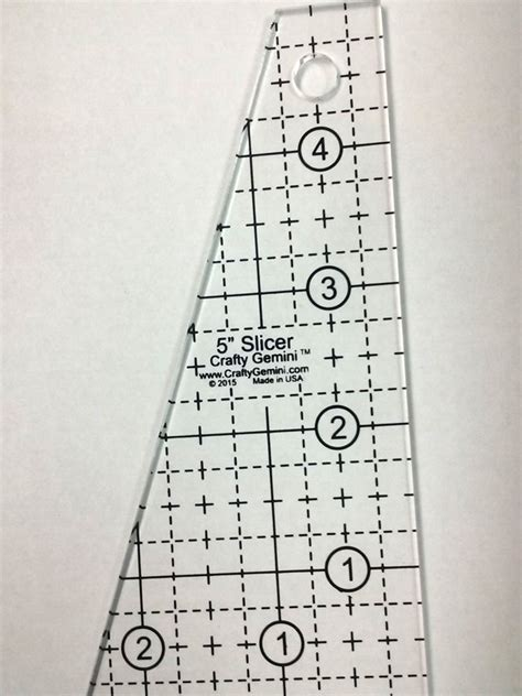 quilting rulers and templates 5 quot slicer quilting ruler template crafty gemini