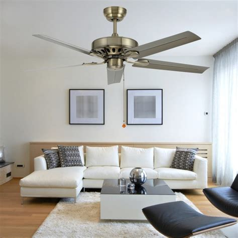 Ceiling Fans For Living Room 48 Inch Iron Leaf Ceiling Fan Light Modern Minimalist Living Room Dining Room Without Lights Fan