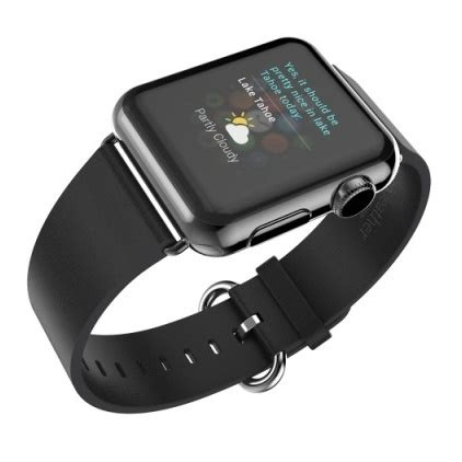 Apple Hoco Leather Strapband Pago Style 42mm Black Murah Sp hoco pago style leather band for apple 42mm black
