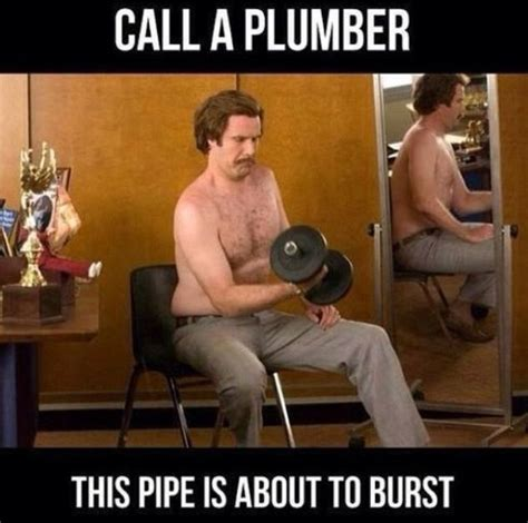 Funny Memes About Working Out - ron burgundy workout quotes quotesgram