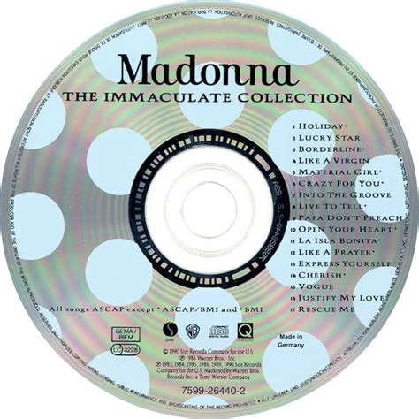 Cd Titi Dj Immaculate Collection hits max madonna the immaculate collection