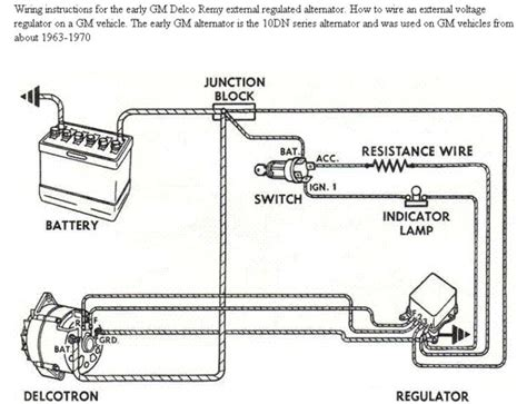 basic gm alternator wiring wiring diagram with description