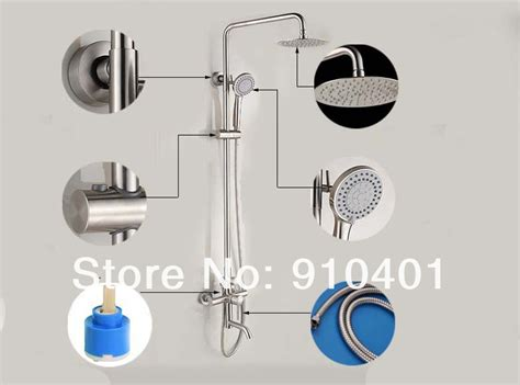 Brushed Nickel Tub And Shower Faucet Set by Wholesale And Retail Promotion Luxury Modern Style