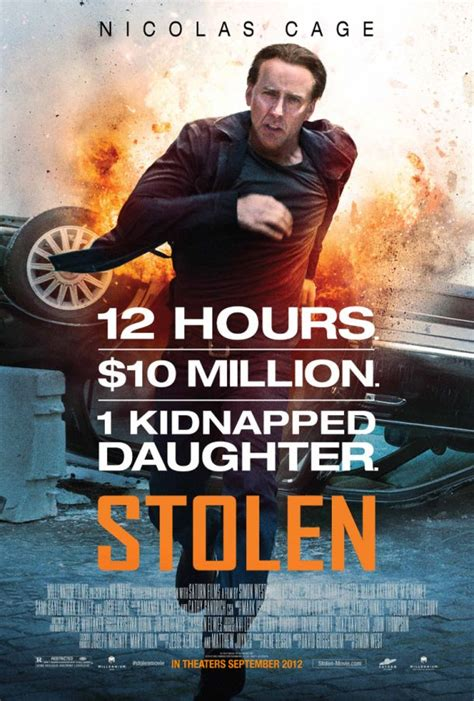 nicolas cage film poster and photos for the nicolas cage thriller stolen