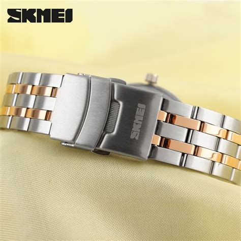 Skmei Casual Leather Water Resistant 30m 9116cl Emws skmei casual stainless water resistant 30m