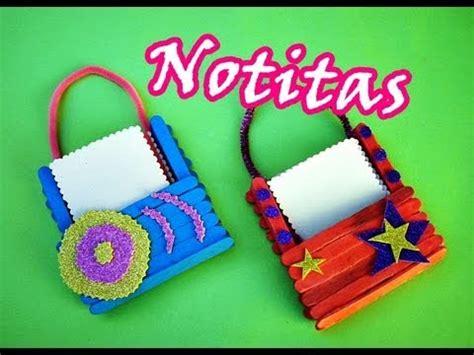 canastas de palitos madera de colores manualidades con palitos porta notitas cute youtube