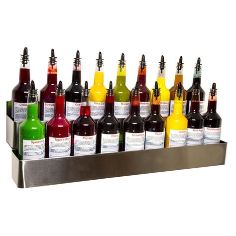 Snow Cone Bottle Rack by Stainless Steel Bottle Rack Wall Mount 32 Inch Hold