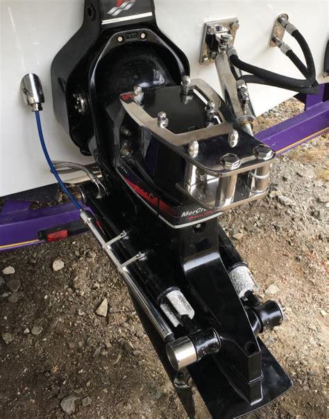 add hydraulic steering boat zeiger single bravo drive dual ram add on hydraulic