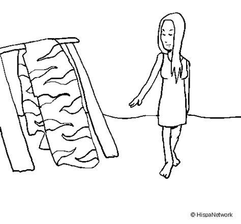 imagenes para dibujar mujeres dibujo de mujer secando la piel para colorear dibujos net