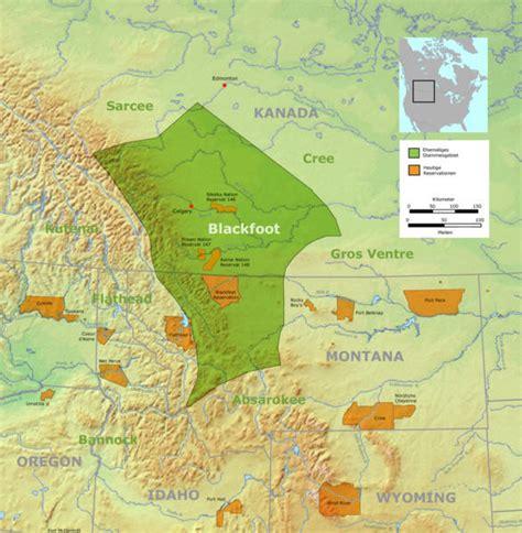 blackfoot american map blackfeet indian reservation access genealogy