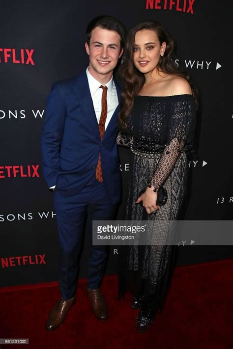 actor netflix actors dylan minnette l and katherine langford attend