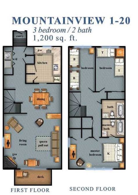 Bath Floor Plans Mountainview 3 Bedroom 1 20