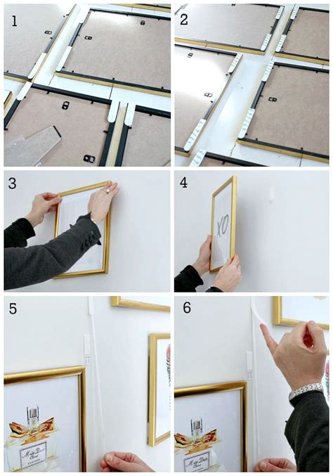 how to hang frames without nails best 25 hanging pictures - Hang Frames No Nails