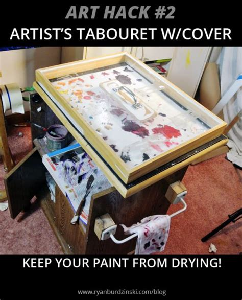 hack and paint art hack 2 artist s tabouret w cover keep your paint