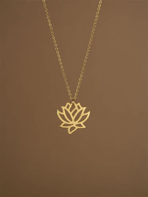 lotus necklace gold lotus flower necklace blooming