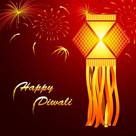 Happy Diwali Card Templates by Abstract Beautiful Glowing Lantern Happy Diwali Card Free