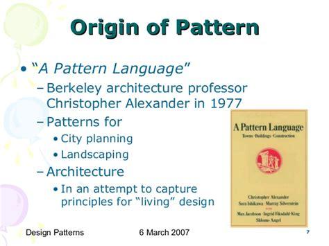 christopher alexander a pattern language 1977 cs6201 software reuse design patterns