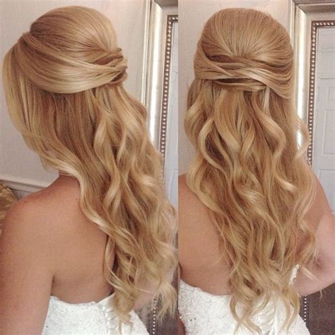 Wedding Hairstyles Up For Ceremony For Reception by 25 Best Ideas About Half Up Half Wedding Hair On