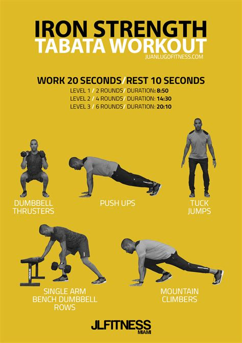 printable iron strength workout iron strength tabata workout jlfitnessmiami