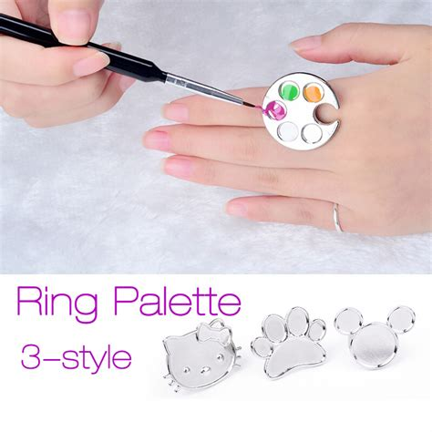 Paw Shaped Pallete Ring Palet Warna Nail popular ring nail palette buy cheap ring nail palette lots from china ring nail