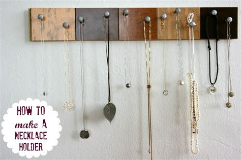 how to make jewelry holder 25 creative necklace organization ideas the thinking closet