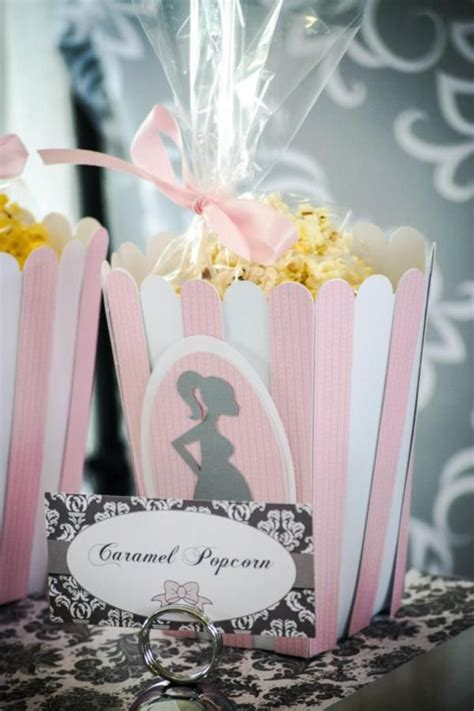 Pink And Gray Baby Shower Decorations by Pink Grey Baby Shower Kara S Ideas Baby Shower