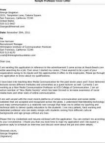 Sample Cover Letter For Applying Assistant Professor Job