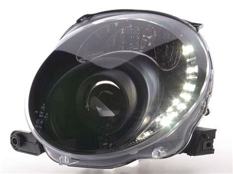 fiat 500 beleuchtung mittelkonsole wechseln tuning shop scheinwerfer daylight fiat 500 bj 07