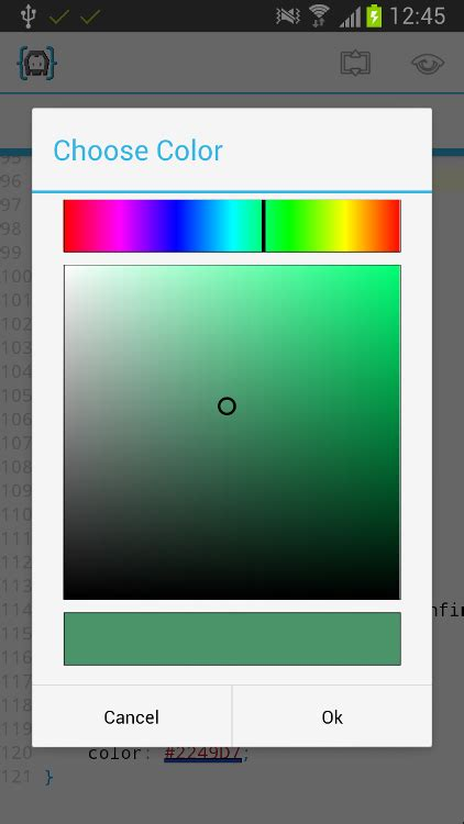 javascript color picker javascript android webview with colorpicker eyecon
