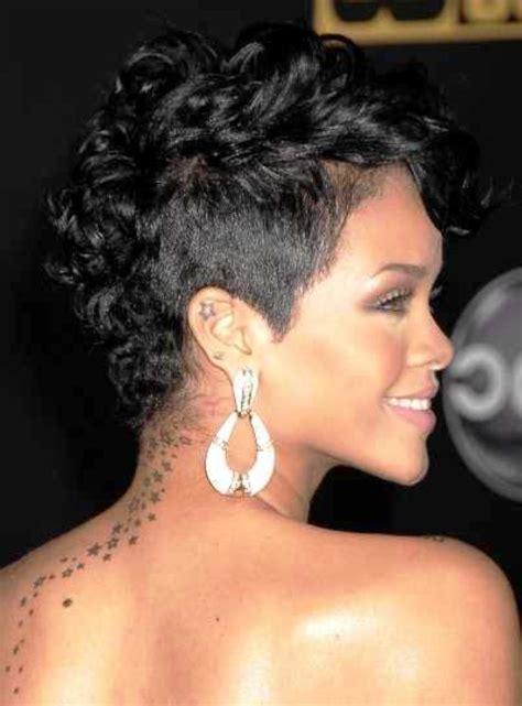 pictures of short curly hairstyles for women atlanta ga salon rihanna short curly mohawk hairstyles fashion for curly