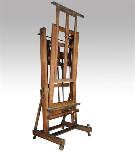 Studio Easel large oak studio easel by and newton antiques atlas