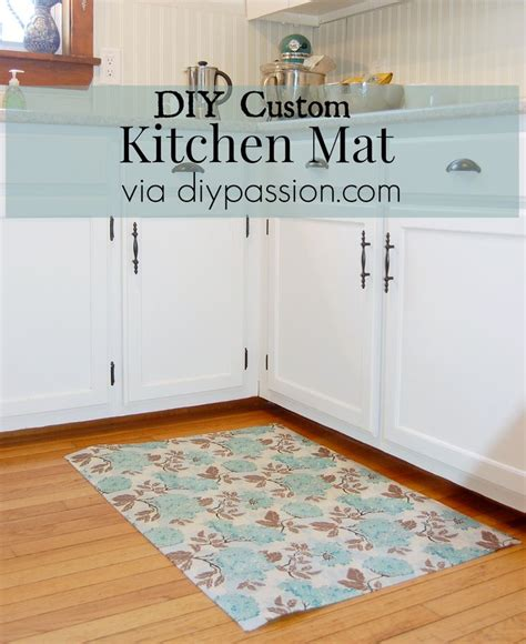custom kitchen rugs diy custom kitchen mat via diypassion i need a livingroom rug i was considering painting a