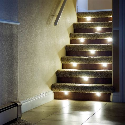 stair lighting led indoor led recessed stair light kit dekor 174 lighting
