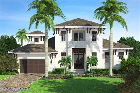 West Indies Home Plan Edgewater Model Weber Design Group West Indies Style House Plans