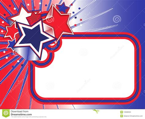 film blue red white red white and blue stars banner stock photo image 10608320
