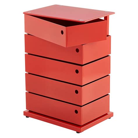 Red 5 Bin Storage Tower The Container Store Container Store Shelving