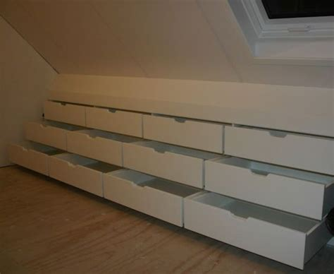 Drawers Built Into Wall by 20 Clever Storage Ideas For Your Attic Hative
