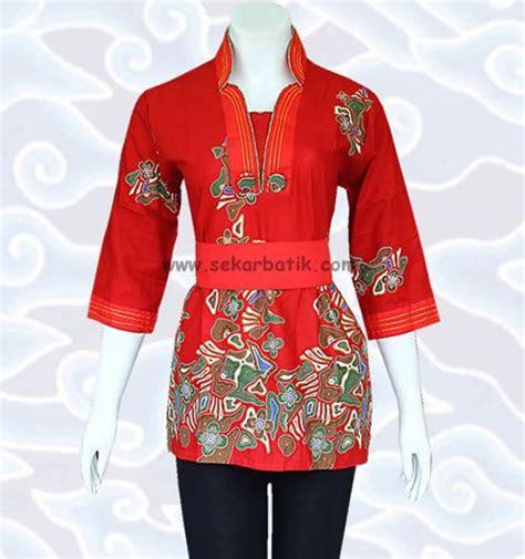 Baju Blouse Blus Katun Mote Des blus batik kerja murah bb29 di koleksi http sekarbatik blus batik baju blus